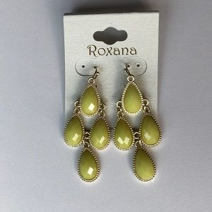 Citron gold dangle earring